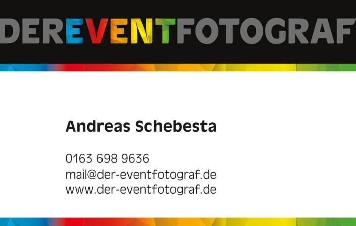 Visitenkarte Layout mit Kontaktdaten - derEVENTfotograf München
