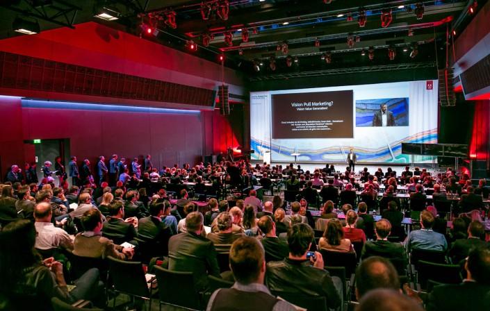 Rückseite der Visitenkarte - Impression des Adobe Symposium 2015 in München